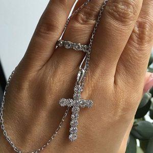 крестики бижутерия купить крестик Украина, Сильвер стайл ЮА