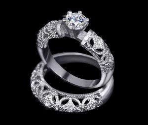 Магазин серебро - кольцо серебряное с фианитом