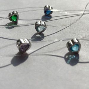 цепочки серебряные купить - в виде камней на леске