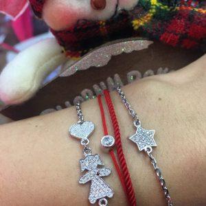 Серебряный мама браслет с камнями девочка фото