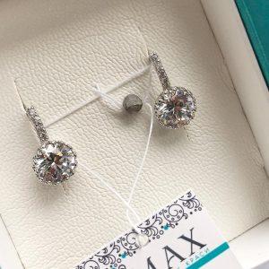 Серебряные серьги с камнями фото