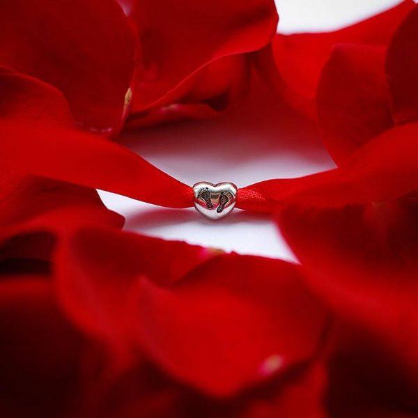 Серебряный подвес сердце след фото