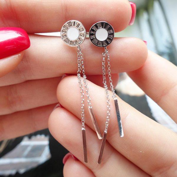 Серебряные серьги Блугари подвески фото
