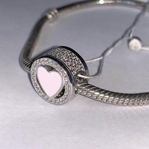 Серебряный шарм Пандора сердце фото