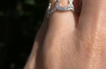 Серебряное кольцо корона фото
