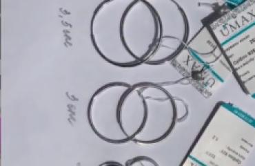 Серебряные серьги-кольца 1,5 см фото