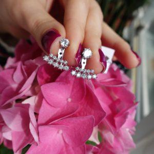 Серебряные серьги-джекеты 001.164 фото