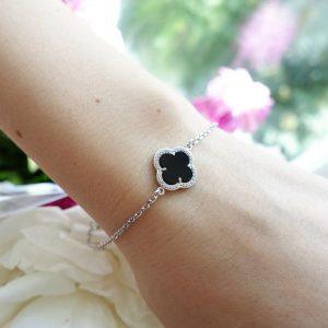Серебряные браслеты с ониксом 001.154 фото
