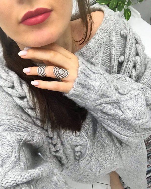 Серебряное кольцо с камнями 001.131 фото