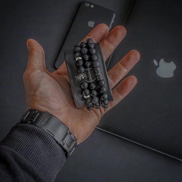 Мужской браслет из натуральных камней KING LEONEL 001.200 фото