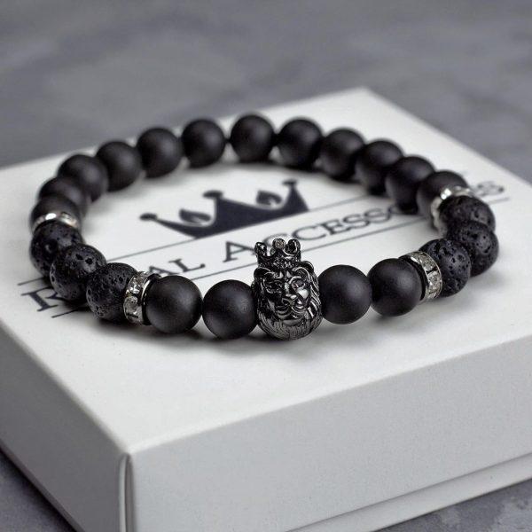 Мужской браслет из натуральных камней KING LEONEL 001.201 фото