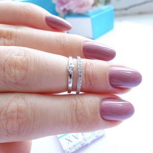Серебряное кольцо на фалангу с камнями фото