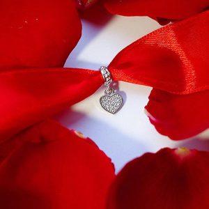 Серебряный подвес сердце фото