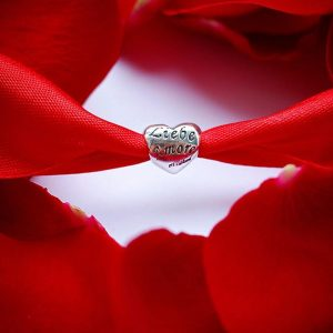 Серебряный подвес сердце надпись фото