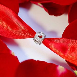 Серебряный подвес шар сердце фото