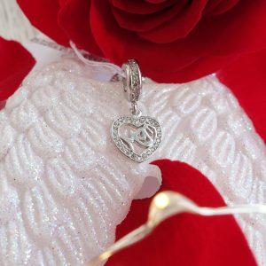 Серебряный подвес mom сердце фото