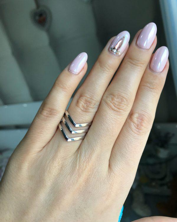 Серебряное кольцо тройная чайка без камней фото