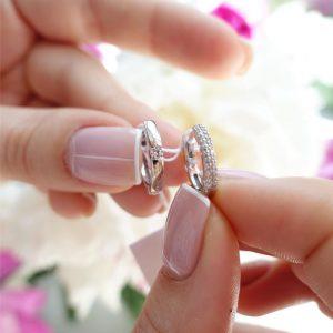 Серебряные серьги кольца двухсторонние фото