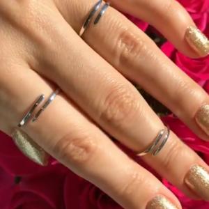 Серебряное кольцо без камней глянцевое фото