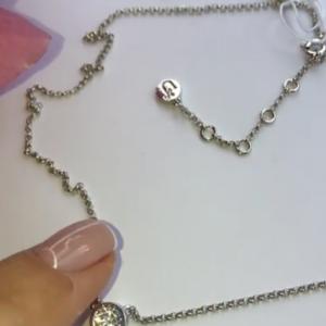 Серебряная цепочка с кулоном фото