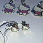Серебряные детские серьги Hello Kitty фото