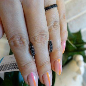 Комплект серебряное двухстороннее кольцо и серьги с камнями фото