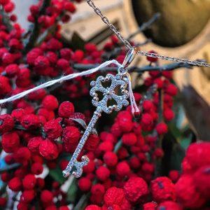 Серебряный нежный подвес ключик 001.140 фото