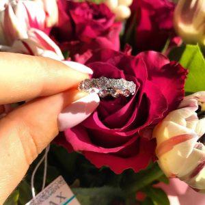 Серебряное кольцо с камнями 001.137 фото