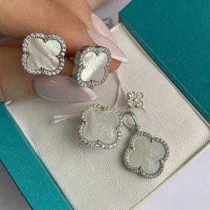 Серебряные серьги гвоздики 001.103 фото