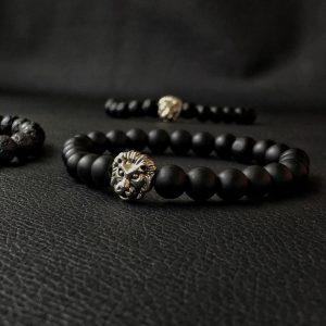Мужской браслет из натуральных камней LION SILVER 001.227 фото