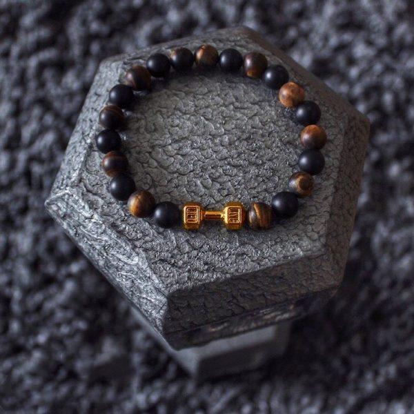 Мужской браслет из натуральных камней FIT LIFE GOLD 001.225 фото