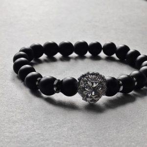 Мужской браслет из натуральных камней LION DARK 001.220 фото