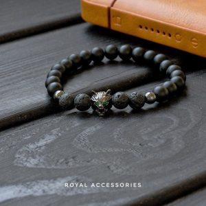 Мужской браслет из натуральных камней MAD WOLF 001.219 фото