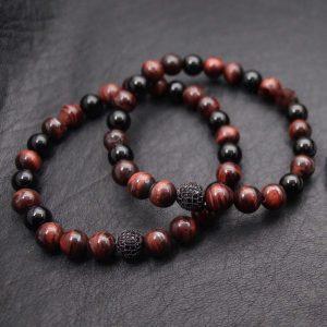 Мужской браслет из натуральных камней CZ BALL DARK 001.218 фото