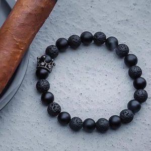 Мужской браслет из натуральных камней ROYAL DARK CZ 001.208 фото